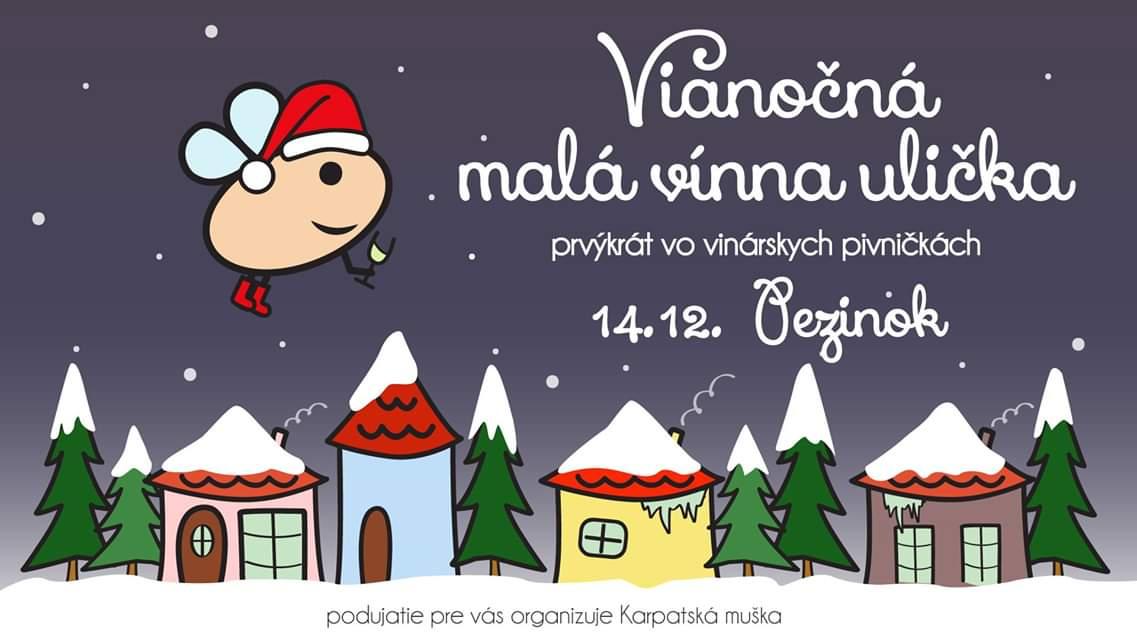 Vianočná vínna ulička 2019 Pezinok